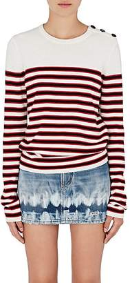 Saint Laurent Women's Striped Wool Sweater
