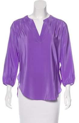 Amanda Uprichard Silk Long Sleeve Blouse