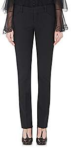 Chloé Women's Stretch-Virgin Wool Slim Ankle-Length Pants - Black