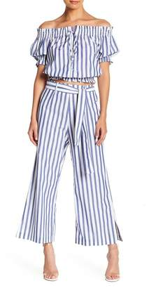 WAYF Aversa Cropped Wide Leg Pants