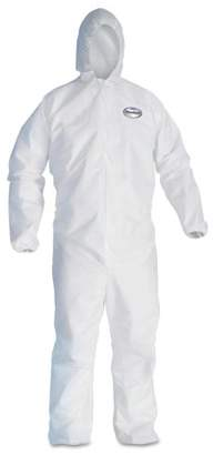 KLEENGUARD A20 Elastic Back, Cuff and Ankle Coveralls, Zip, XL, White, 24 Per Carton