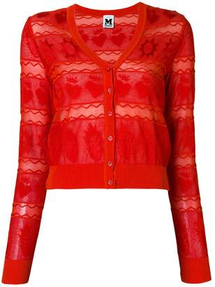 M Missoni sheer paneled cardigan