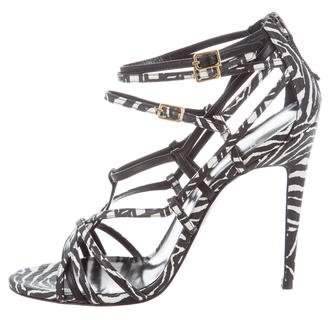 Pierre Hardy Trio Snakeskin Sandals w/ Tags
