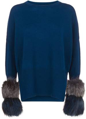 Izaak Azanei Classic Fur Cuff Sweater