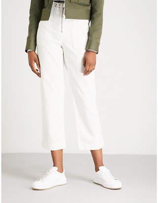 Rag & Bone High-waisted cotton-denim trousers