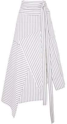 J.W.Anderson Asymmetric Striped Cotton Midi Skirt