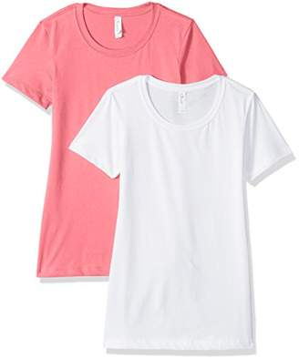 Blend of America Clementine Apparel Women's 3-Pack Short Sleeve T Shirt Easy Tag Crew Neck Soft Cotton Undershirts (1510)