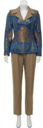 Bill Blass Patterned Three-Piece Suit
