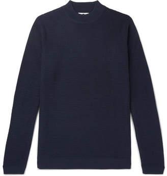 NN07 Duncan Slim-Fit Ribbed Wool-Blend Sweater