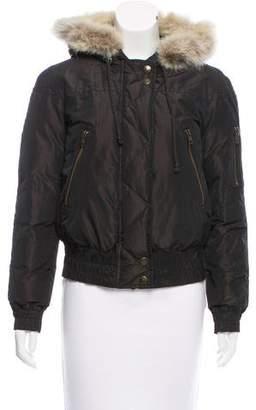 KORS Fur-Trimmed Down Jacket