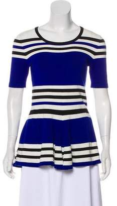 Torn By Ronny Kobo Stripe Short Sleeve Top