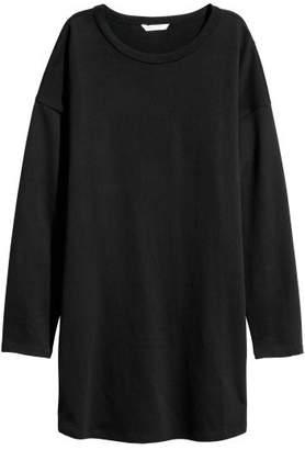 H&M Long-sleeved Jersey Dress - Black