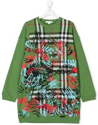 Burberry TEEN graphic print sweatshirt