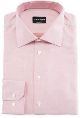 Giorgio Armani Men's Micro-Dot Dress Shirt