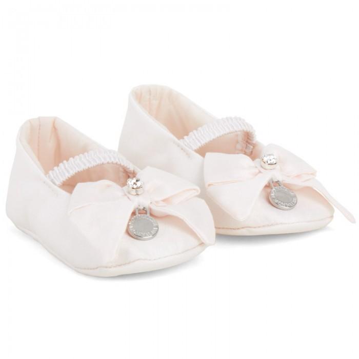 MonnaLisa Pale Pink Crib Shoe