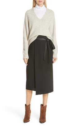 Vince Belted Wrap Skirt