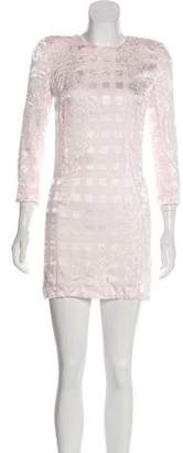 Balmain Brocade Mini Dress
