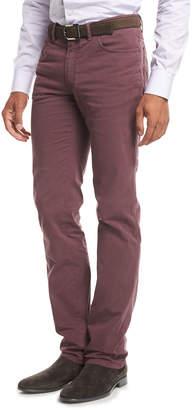 Brioni Five-Pocket Stretch-Cotton Pants