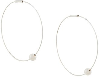 E.m. hoop earrings