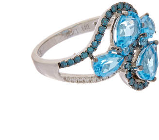 Effy Fine Jewelry 14K 3.04 Ct. Tw. Diamond & Topaz Ring