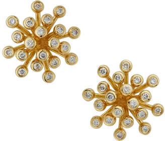 Neiman Marcus Diamonds 18k Firework Diamond Stud Earrings, Yellow Gold