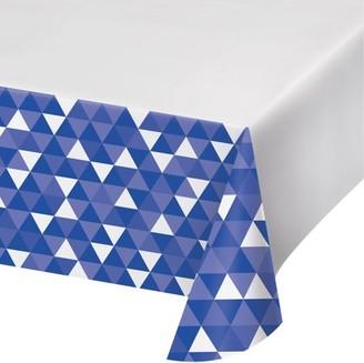 Celebrations Cobalt Blue Fractal Plastic Tablecloth, each