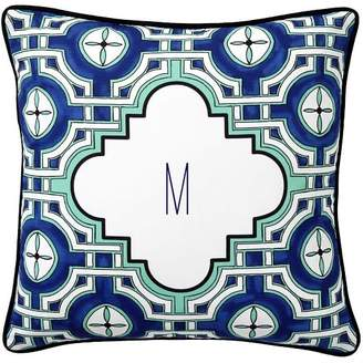 Pottery Barn Teen Grace Geo Monogram Pillow Cover, 16&quotx16&quot, Bright Navy