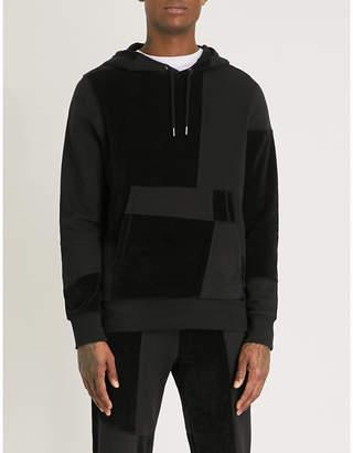 Christopher Raeburn Textured panel cotton-jersey hoody