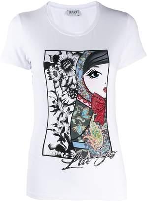 Liu Jo Russian Doll print T-shirt