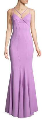 Zac Posen Regina V-Neck Mermaid Gown