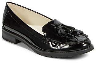 Anne Klein Womens Batilda Patent Leather Tassel Loafers