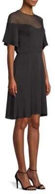 Milly Jan Mesh Flare Dress