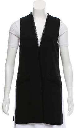 Elizabeth and James Frayed Open-Front Vest