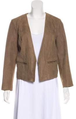 Joie Leather Open Front Jacket