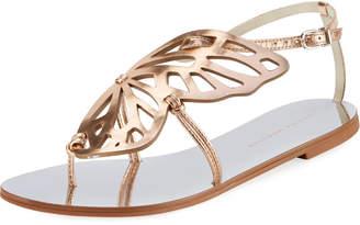 Sophia Webster Bibi Butterfly Flat Sandals, Silver