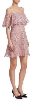 Valentino Off-Shoulder Lace Dress
