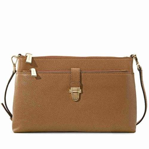 Michael Kors Mercer Large Snap Pocket Crossbody Bag - Acorn - BROWNS - STYLE