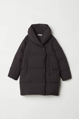 H&M Long Down Jacket - Black