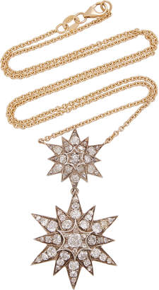 Chloé Toni + Goutal Double-Tiered Gold Diamond Necklace