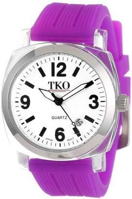 TKO ORLOGI Women's TK558-WPR Milano Junior Acrylic Case White Dial Watch