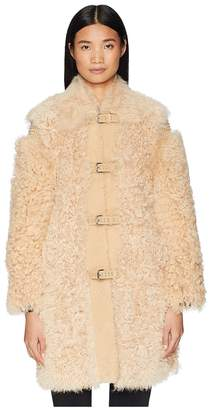 RED Valentino Kalgan, Shearling, Suede and Stud Coat Women's Coat