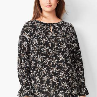Talbots Gathered Sleeve Blouse - Floral
