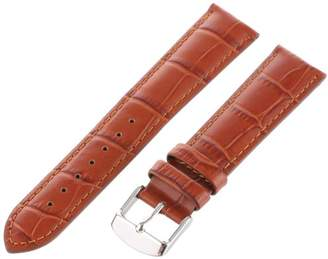 Hadley-Roma Men's 20mm Leather Watch Strap