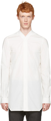 Rick Owens White Faun Shirt $660 thestylecure.com