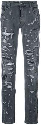 Philipp Plein heavy distressed jeans