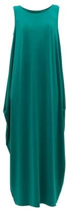 Issey Miyake Draped Jersey Midi Dress - Womens - Green