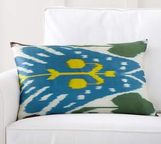Pottery Barn Aria Ikat Print Silk Lumbar Pillow Cover