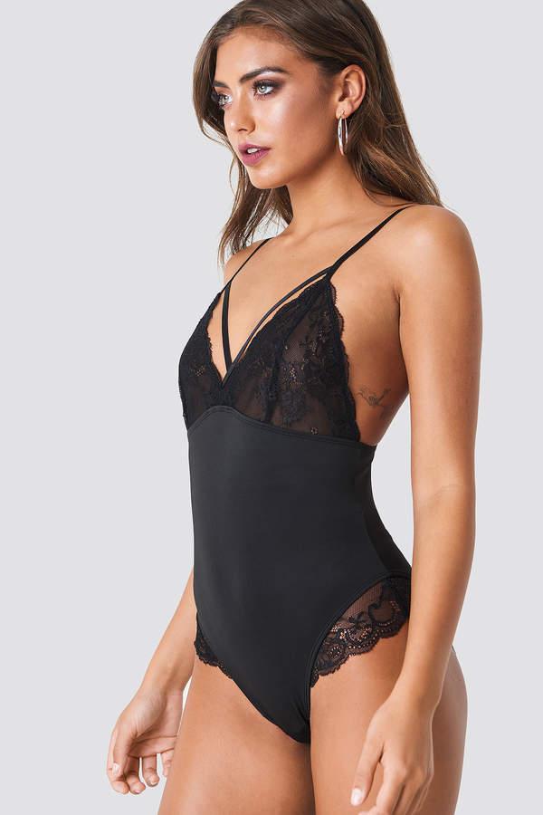 Na Kd Lingerie Lace Detail Micro Bodysuit
