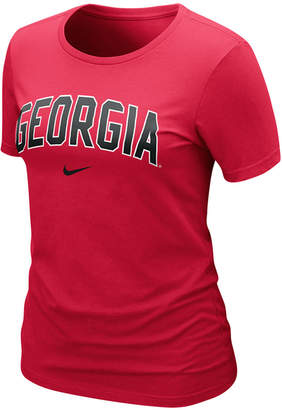 Nike Women's Ncaa T-Shirt, Georgia Bulldogs Arch Graphic Tee