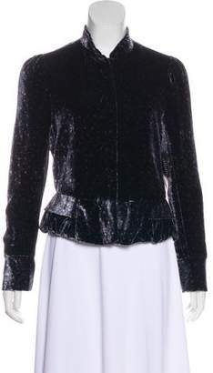 Marc Jacobs Velvet Snap Jacket